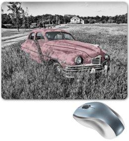 "Коврик для мышки ""Раритет 1"" - раритет, ретро, машина, автомобиль, пейзаж"