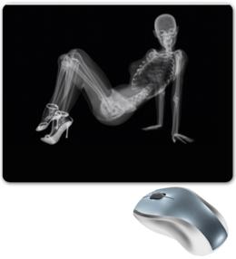 "Коврик для мышки ""Скелет девушка рентген"" - скелет, врач, доктор, девушка, прикол"