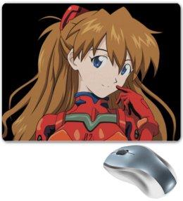 """Коврик для мышки """"Аска Ленгли Сорью"""" - аниме, anime, евангелион, аска лэнгли сорью"""