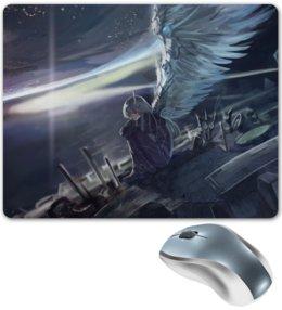 "Коврик для мышки ""Ангел"" - арт, крылья, ангел, аниме"