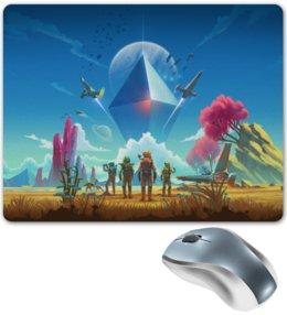 """Коврик для мышки """"No Man's Sky"""" - космос, иллюстрация, компьютерная игра, no mans sky"""