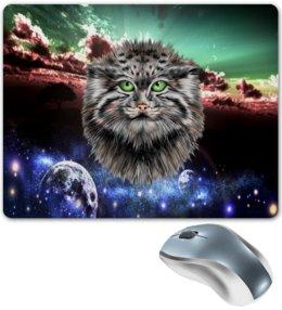 """Коврик для мышки """"Кот в космосе"""" - кот, звезды, котенок, космос, коты в космосе"""