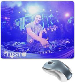"Коврик для мышки ""(TIESTO)"" - dj, trance, диджей, tiesto, tiësto"