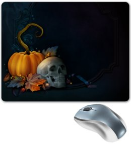 """Коврик для мышки """"Хэллоуин"""" - хэллоуин, тыква, череп"""