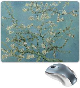 """Коврик для мышки """"Цветы миндаля (Ван Гог)"""" - картина, ван гог"""