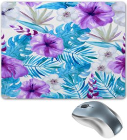 """Коврик для мышки """"Тропические цветы"""" - лето, цветы, summer, природа, тропики"""