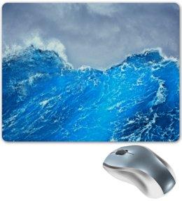 """Коврик для мышки """"Морские волны"""" - море, синий, вода, волны, шторм"""