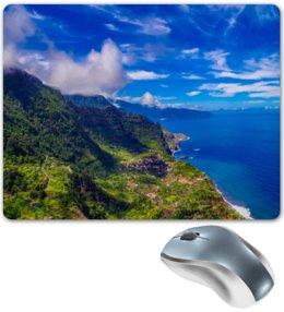 """Коврик для мышки """"Остров"""" - облака, природа, горы, пейзаж, скалы"""
