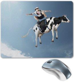"""Коврик для мышки """"Скейтер"""" - скейт, скейтер, корова"""