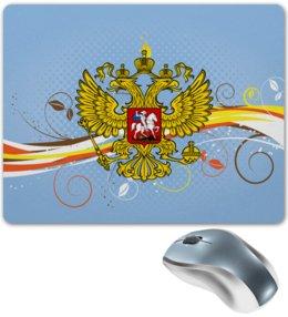 """Коврик для мышки """"Россия"""" - цветы, россия, герб, орел, хохлома"""