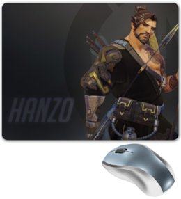 "Коврик для мышки ""Ханзо"" - blizzard, близзард, overwatch, овервотч, hanzo"