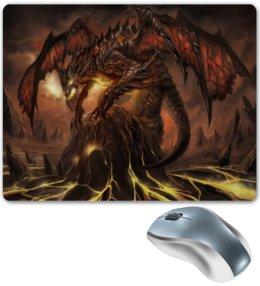 """Коврик для мышки """"Dragon age"""" - арт, дракон, война, зло, демон"""