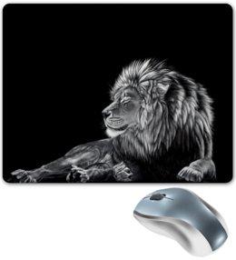 """Коврик для мышки """"Король лев"""" - африка, лев, сила, смелость, мдурость"""