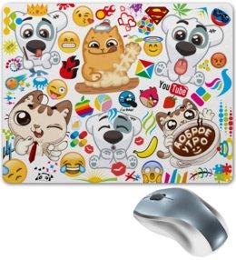 """Коврик для мышки """"VIPka"""" - животные, яркий, авторское, вк, стикеры"""