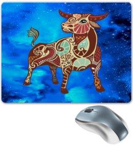 """Коврик для мышки """"Телец"""" - космос, небо, знаки зодиака, зодиак, телец"""