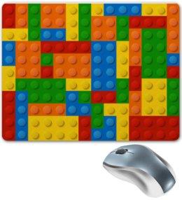 """Коврик для мышки """"Конструктор Лего"""" - рисунок, детский, игрушка, конструктор, лего"""