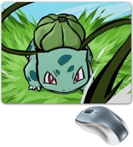 "Коврик для мышки ""Бульбазавр"" - нинтендо, nintendo, bulbasaur, pokemon go, покемон го"
