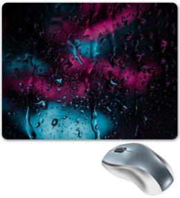 """Коврик для мышки """"Дождь"""" - осень, alone, дождь, огни, rain"""