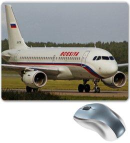 """Коврик для мышки """"ROSSIYA Airbus A319"""" - rossiya, rossiya airlines, авиакомпания россия, airbus, airbus a319"""