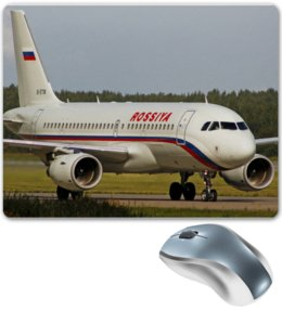 "Коврик для мышки ""ROSSIYA Airbus A319"" - rossiya airlines, авиакомпания россия, rossiya, airbus, airbus a319"