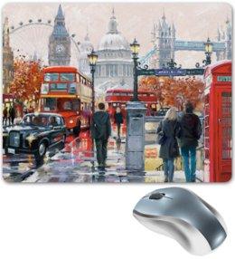 """Коврик для мышки """"London"""" - london, город, лондон, улица, city, uk, big ben"""