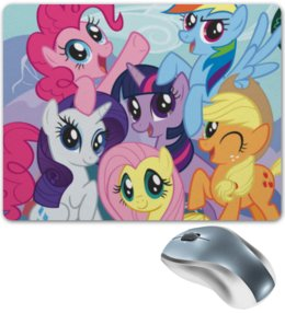 "Коврик для мышки ""My Little Pony"" - rainbow dash, my little pony, applejack, friendship is magic, twilight sparkle"