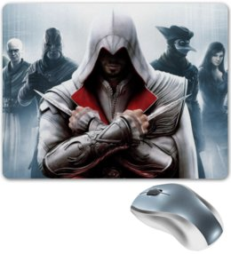 "Коврик для мышки ""Assassin"" - игры, assassin, assassin's creed, кредо ассасина, ubisoft, video games, эцио, ezio"