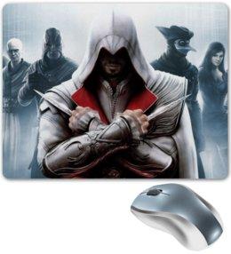 "Коврик для мышки ""Assassin"" - игры, assassin, assassin's creed, кредо ассасина, ubisoft, video games, эцио, ezio"