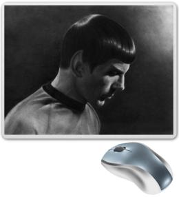 """Коврик для мышки """"Мистер Спок и сериала Stsr Trek TOS LLAP"""" - star trek, стар трек, спок, spock"""