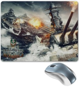 "Коврик для мышки ""World of Warships"" - games, игры, игра, game, корабли, world of warships, battleships, world of battleships, battleship, warships"