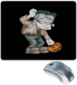 "Коврик для мышки ""Чудовище Франкенштейна"" - монстр, франкенштейн, хэллоуин, тыква, зомби"