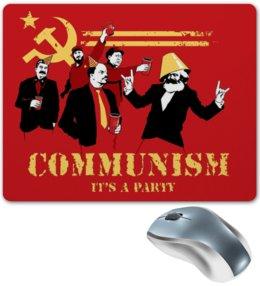 """Коврик для мышки """"Communism Party"""" - ленин, маркс, коммунизм, сталин, фидель кастро"""