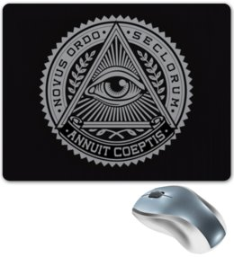 "Коврик для мышки ""Всевидящее око"" - illuminati, всевидящее око, mason, масоны, freemasonry"