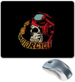 """Коврик для мышки """"Без названия"""" - череп, мото, скорость, мотоциклы, motorcycle"""