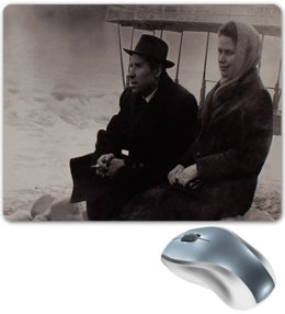 """Коврик для мышки """"Ретро."""" - ретро, пара, фотография, прошлое, черно-белая фотография"""