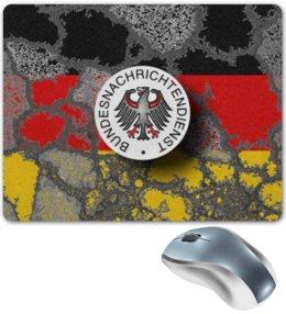 """Коврик для мышки """"Германская контрразведка"""" - разведка, германия, орёл, флаг, герб"""