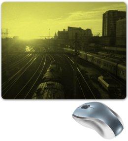"""Коврик для мышки """"""""Поезда"""""""" - москва, поезд, урбанизм, монохром, trains, urban life"""