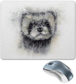 """Коврик для мышки """"Рисунок животного хорька."""" - хищник, абстракция, животное, норка, хорёк"""