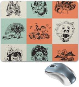 """Коврик для мышки """"животные"""" - музыка, хэллоуин, смешные, животные, мульт"""
