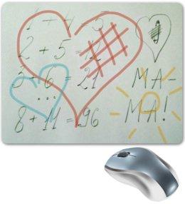 """Коврик для мышки """"Примерчики"""" - сердца, мама, примеры"""