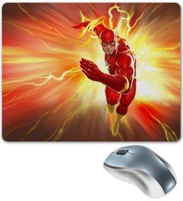 """Коврик для мышки """"Флэш (Flash)"""" - flash, комиксы, dc, dc comics, флэш"""