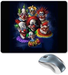 """Коврик для мышки """"Клоуны-злодеи"""" - ужасы, фэнтэзи, клоуны, злодеи"""