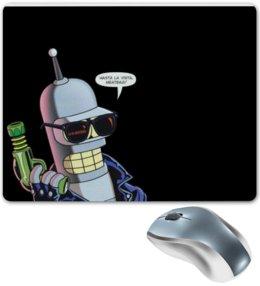 """Коврик для мышки """"Bender"""" - futurama, robot"""