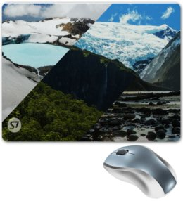 "Коврик для мышки ""Ice Land"" - горы, реки, лес, природа"