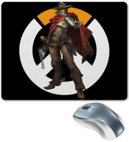 "Коврик для мышки ""McCree Overwatch / МАККРИ Овервотч"" - игры, overwatch, mccree, овервотч, маккри"