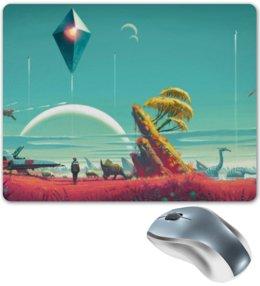 """Коврик для мышки """"No man's sky"""" - space, future, космос, будущее"""