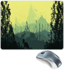 """Коврик для мышки """"Природа"""" - животные, лес, природа, пейзаж, лиса"""