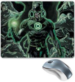 """Коврик для мышки """"Зелёный фонарь"""" - green lantern, зелёный фонарь, dc comics, супергерой"""