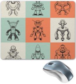 """Коврик для мышки """"робот"""" - космос, робот, мульт, ракета, железо"""