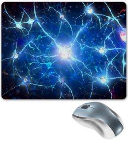 "Коврик для мышки ""Молекулы"" - узор, абстракция, текстура, химия, молекулы"